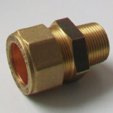 Brass MDPE Alkathene Male Iron Coupling 25mm x 3/4 - 18422500
